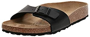 BIRKENSTOCK Madrid Sandals, Black, 37 N EU, Womens 6-6.5 N US/Mens 4-4.5 N US
