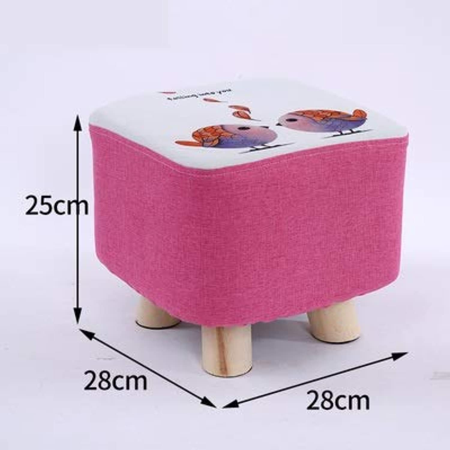 RHHWJJXB Garden Wooden Stool Round shoes Change shoes Stool Home Door Bearing Dengzi American Style Small Stool (color   A)