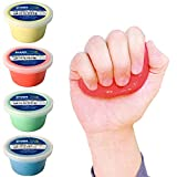 Crown Therapy Putty – Made in USA - Full Set of Hand Exercise Putty (4 Pack, 3-oz Each) Hand Exercise Rehabilitation, Stress and Anxiety Relief.