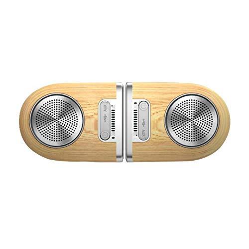 Bluetooth portátil impermeable interior / exterior 30W inalámbrico estéreo emparejamiento Booming Bass Altavoz, 8 horas de juego con 1000mAh Power Bank, Durable para la fiesta en casa,woodpattern