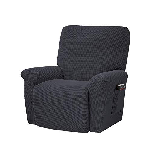 Orumrud Jacquard Husse, 4-Teilig Überzug, Bezug für Fernsehsessel, Relaxsessel, Liege Sessel, Schaukelstuhl, Relaxstuhl, Recliner Sessel