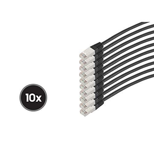 S/CONN maximum connectivity Patchkabel cat 6 S/FTP PIMF HF VE10 schwarz 1m