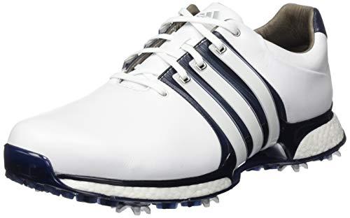 ADIDAS TOUR360 XT (Wide), Zapatillas de Golf Hombre, Blanco Blanco Azul Navy Plata Bd7125, 42 EU