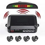 CJMING Sensore Di Aiuto Al Parcheggio, Kit Di Aiuto Al Parcheggio Per Auto, Segnale Di Parcheggio E Aiuto Al Parcheggio Con 4 Sensori E 1 Altoparlante
