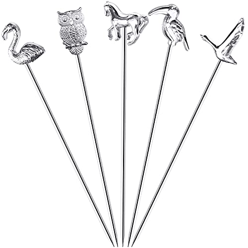 AQRINGO Cocktail Picks Stainless Steel Cocktail Garnish Toothpicks...