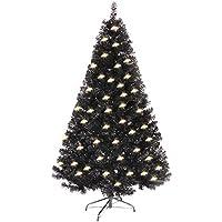 Riutilizzabile: albero di Natale nero da 4/5/6 piedi, l'albero di Natale è facile da smontare e installare. Dopo questo Natale, puoi smontarli per la raccolta e aspettiamo il Natale del prossimo anno Fairy Lights a LED: lunghezza 10M con 100 luci a L...