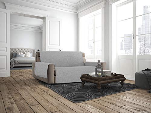 Italian Bed Linen Cubierta de sofá Anti-Deslizamiento Confort,4 Plazas, Gris