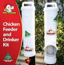Dine a Chook Hühner Futterautomat Set Futter/Wasser - 2
