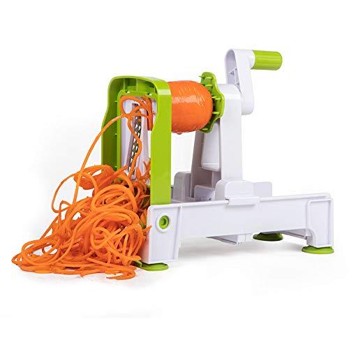 HAOXIANG Vegetable Spiralizer Slicer with 5 Blades, Strongest-and-Heaviest Veggie Mandoline Spiral Slicer, Best Handheld Veggie Pasta Spaghetti Maker