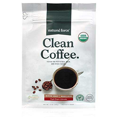 Natural Force Organic, Mold Free Clean Coffee – Low...