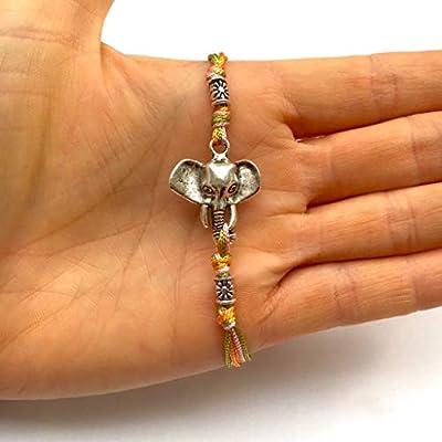 Bracelet porte bonheur, talisman, amulette Style indien ÉLÉPHANT. INDE. ZEN. MÉDITATION. CHANCE perles tibétaines. Cordon satin. création sur mesure