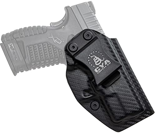 """CYA Supply Co. Fits Springfield XD-S 3.3"""" & XD-S MOD.2 3.3"""" Inside Waistband Holster Concealed Carry IWB Veteran Owned Company (Carbon Fiber, 074- Springfield XD-S 3.3"""" & XD-S MOD.2 3.3"""")"""