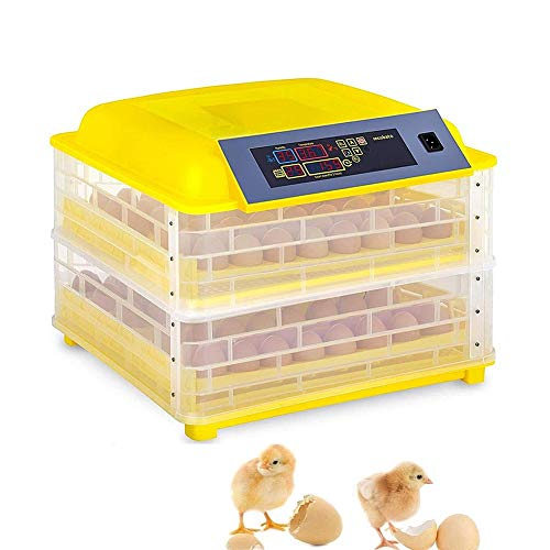 ZFF Incubator 112 Egg Automatic Turning with Egg Trays, Digital Temperature Humidity Control Hatcher for Chicken Duck Goose Birds (Size : 220V)