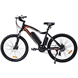 """ECOTRIC Mountain EBike Electric Bicycle Bike 26"""" Alloy Frame with 500W Powerful Motor 36V/13Ah Lithium Suspension Fork (Black)"""
