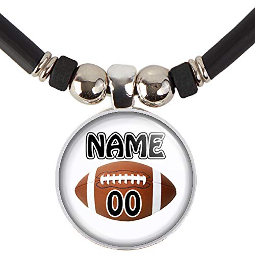 SpotlightJewels Customized Football Necklace with Your Name and Number- Perfect for Football Players, Football moms, Football Teams and Coaches