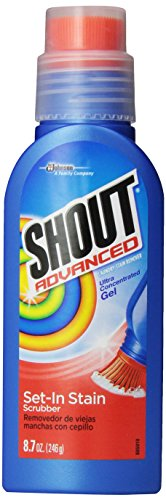 Shout Advanced Stain Remover for Clothes with Scrubber Brush, 8.7 oz