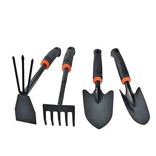 MNBVC Gartenwerkzeug-Set Mini Gartengeräte Holzgriff Edelstahl Schaufel Rechen Spaten Für Blumen Topfpflanze