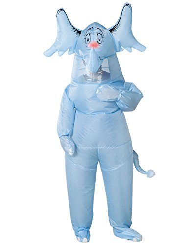 Spirit Halloween Adult Inflatable Horton Hears a Who Costume - Dr. Seuss Blue