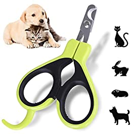 Angzhili Pet Nail Clippers and Claw Trimmer – Cat Claw Clippers for Rabbit Puppy Kitten Kitty Guinea Pig Small Dog – Sharp, Safe,Anti-Scratch