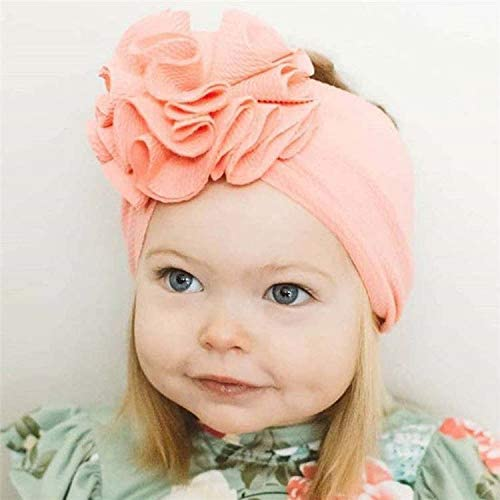 2020 Latest Little Girls Headband Stretchy Big Flower Headbands For Baby Turban 3 PIECES INCLUDE FREE HAND SANITIZER
