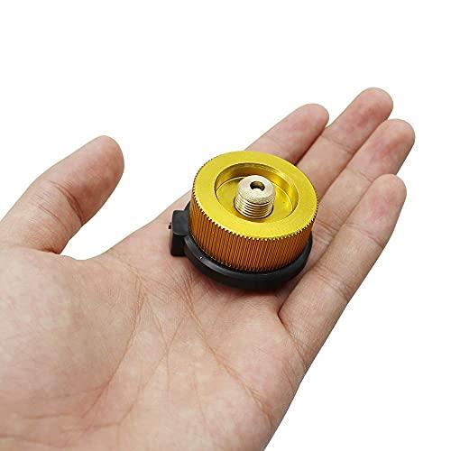 CHAOQUN Adaptador de gas para camping al aire libre, adaptador de bombona de gas para hornillo de camping de 3,5 cm x 2,5 cm, color dorado (1 unidad)