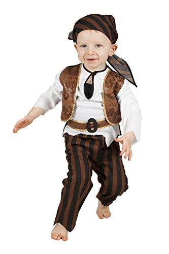 Kinder Kostüm Baby Seeräuber Pirat Karneval Fasching Gr.98