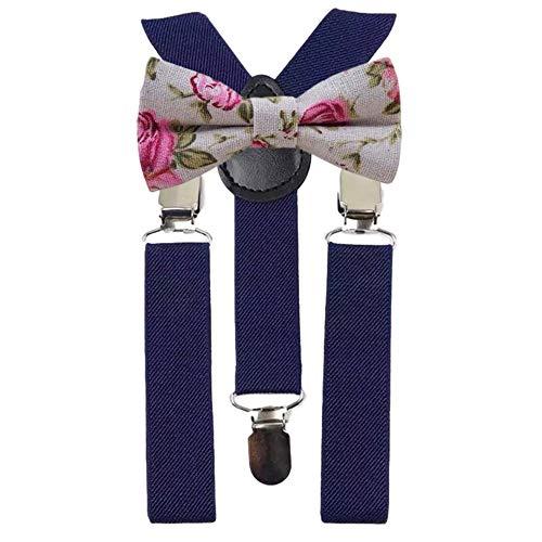 DB Dickie Bow Juego de tirantes y pajarita de algodón con diseño flo