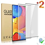 LELANG Galaxy Note 10 Plus/Note 10+ (6.8 inch) HD Screen Protector, [2 Pack] [3D Full Coverage] [Desingned for Fingerprint Unlock] Tempered Glass Film for Samsung Galaxy Note 10+