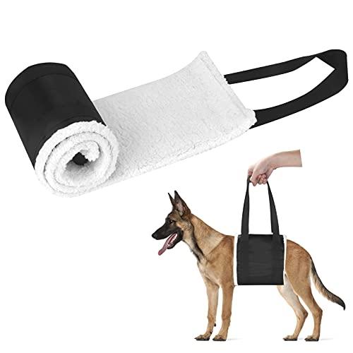 Tragehilfe Hunde Gehhilfe Sanft Hundeliftgeschirr Mobilitätshilfen Haustiere vorne hintere Beine zu Heben für Mittelgroß Älterer Hund Schwache Beine Chirurgie Rehabilitation