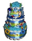 Tarta de pañales Zauber para bebés, bebés, bautizos, nacimientos