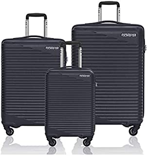 American Tourister Skypark  Spinner Suitcases, Set of 3, Size 55 68 78, Black