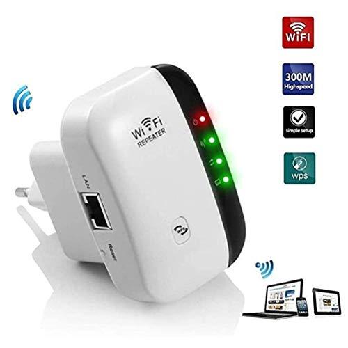 MC.PIG Extensor de Rango de Malla WiFi: repetidor Amplificador de señal Ap inalámbrico/enrutador/Amplificador Banda de 2.4Ghz hasta 300Mbps, admite Modo repetidor/Punto de Acceso, Plug and Play