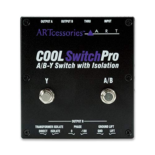ART CoolSwitchPro Isolated A/B-Y Switch Instrument Pedal with Footswitch