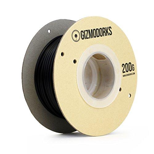 Gizmo Dorks Hüfte 3mm Filament für 3D Drucker (2.85mm) 200g, schwarz