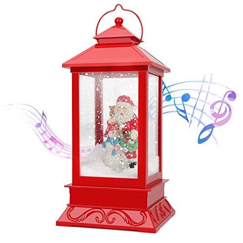 Aceshop Linterna de Navidad, Lámpara de Castillo Colgante de Muñeco de Nieve Elk Santa Claus, Luz de Hadas de Navidad Vintage, Luz de Vela LED de Festival, Adorno de Navidad para Decoración de Hogar