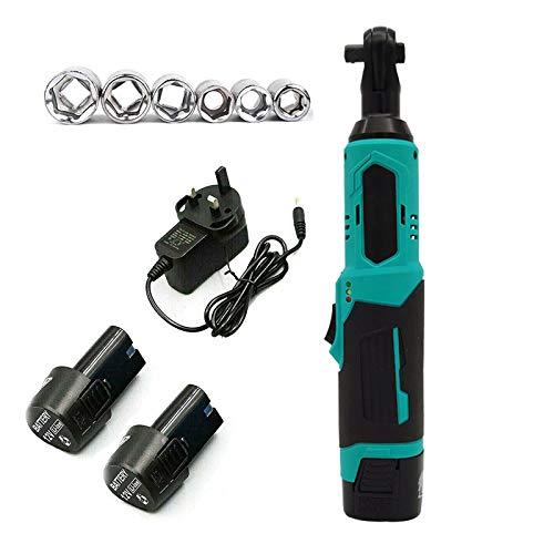 MEYLEE 12V Cordless Ratchet Wrench Kit, with 2-Pack 1500mAh Batteries 6Pcs Sockets LED Work Light, 30Nm Electric Wrench for Mechanical Maintenance Repair DIY Tasks