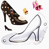 Sakolla Mini High Heel Shoe Fondant Mold, 3D Chocolate Shoes Mold for Cake Decorating, Candy, Soap, Polymer Clay, 4.2 inch Long
