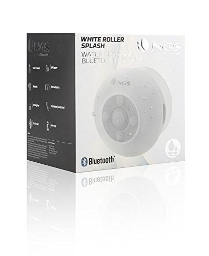 NGS Roller Splash - Altavoz Bluetooth 1.0, color blanco