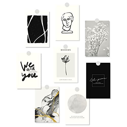 【全6種】 ポストカード 8枚 セット 韓国 北欧 アート ミニ ポスター おしゃれ はがき ナチュラル インテリア 雑貨 (Fパターン)