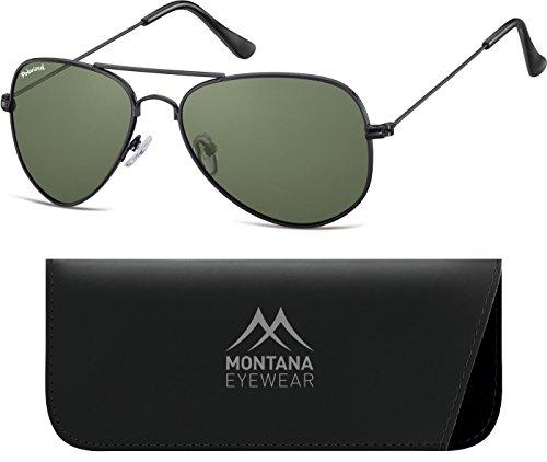 Montana Eyewear Sunoptic MP94A Sonnenbrille in schwarz, inklusive Softetui