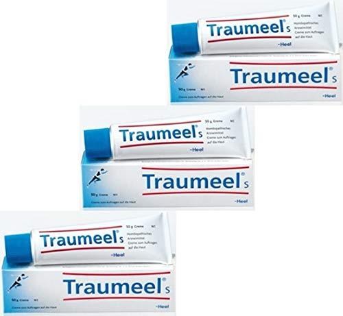 Traumeel s Creme bei akuten Beschwerden des Bewegungsapparates wie Verstauchung oder Prellungen, chronische Erkrankungen oder frische Wunden sowie bei unreiner Haut, Spar-Set 3x50g