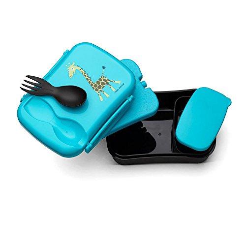 Carl Oscar Nice Box Kids - Bento Box Brotzeitdose Lunchbox mit Kühlakku hält mehrere Stunden kühl, 17 cm x 12,5 cm x 6,3 cm in Türkis