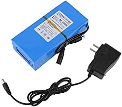 OKAYO 20000mAh 10.8V-12.6V DC Lithium-ion Polymer Rechargeable Battery with Working Indicator +AC Power Charger US Plug Blue