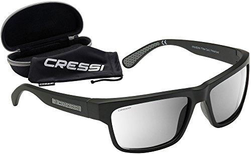Cressi Ipanema Sunglasses Occhiali da Sole Sportivi, Unisex Adulto, Grigio/Lenti Argento Specchiate