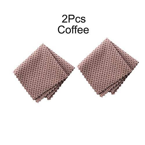 LUXONE Paño de Limpieza de Microfibra de 2/4/8 Uds, toallitas antigrasa, Toalla de Limpieza de Cocina para Lavar Platos domésticos