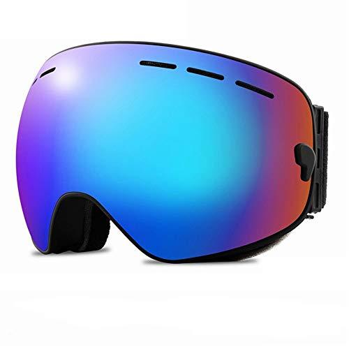 WOXING Esquiando Doble Gafas De Sol,Antiniebla Gafas,Vintage Ciclismo Gafas,Beisbol Mujer Hombre Gafas,Gafas De Sol Deportivas-K 16.5x9.5cm(6x4inch)