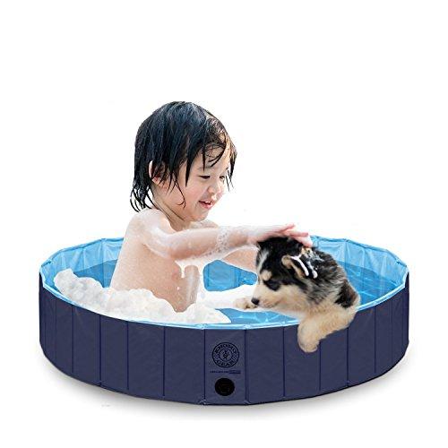 KOPEKS Piscina Grande Infantil Ideal para Niños/Mascotas Perros 120 x 30 cm - Azul Marino y Celeste - L