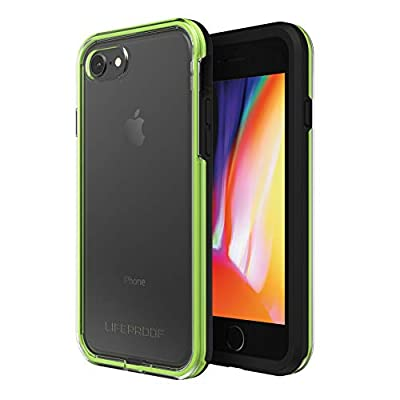 Lifeproof SLAM Series Case for iPhone 8 & 7 (ONLY) - Retail Packaging - Night Flash (Clear/Lime/Black)