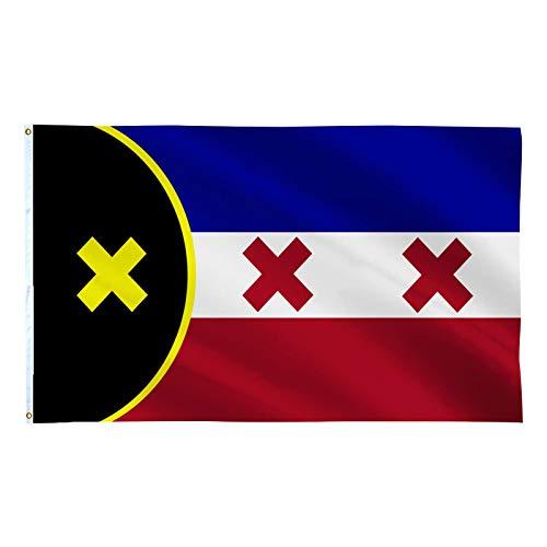 Detrade lmanburg Flag 2020 Dream SMP 3x5 Doppelseitiger Druck - L'Manberg Flag Dream SMP - l manberg Flag - Double Stitched -Polyester mit Messingösen (2,9 × 4,9 Fuß)