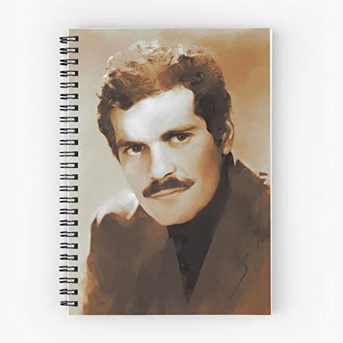 Cinema Celebrity Actor Film Movie Sharif Hollywood Omar Nettes Schul-Fünf-Sterne-Spiral-Notizbuch mit haltbarem Druck
